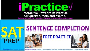 SAT Sentence Completion (FREE): iPractice - Interactive PPT Worksheet SAT Prep