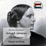 """Susan B. Anthony """"On Women's Right to Vote"""" 