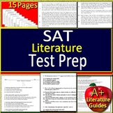 SAT Test Prep - Literature - Practice Test with Answer Key and PowerPoint Review