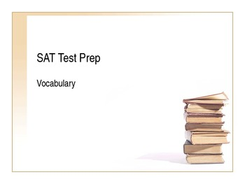 SAT Test Prep Vocabulary PowerPoint