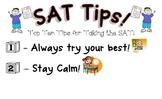 SAT Test Taking Tips poster