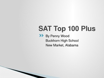 SAT and ACT Advanced Placement English Top 100 Vocabulary