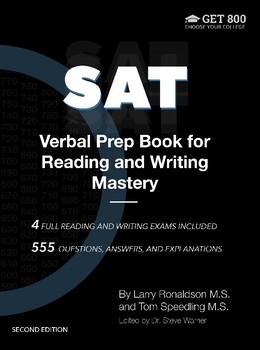 SAT Verbal Prep Book for Reading and Writing Mastery, 2nd Edition