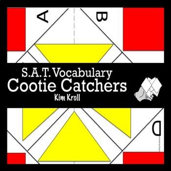 S.A.T. Vocabulary Cootie Catcher / Fortune Teller