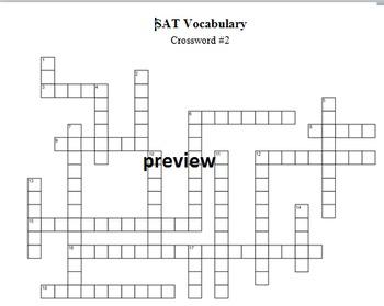 SAT Vocabulary Crossword #2