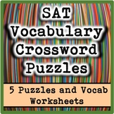 SAT Vocabulary Crossword Puzzles and Review Worksheets
