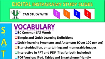SAT Vocabulary DISS: Interactive PPT for SAT Prep (Freebie Set)