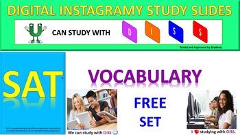 SAT Vocabulary DISS: Interactive PPT for SAT Prep (Freebie Set)