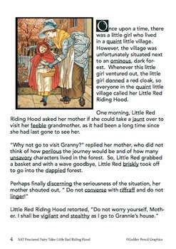 SAT Vocabulary Fractured Fairy Tales- Little Red Riding Hood