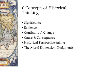 Historical Thinking Skills Presentation Introductory lesson
