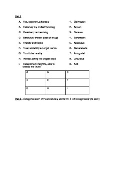 SAT Vocabulary Practice