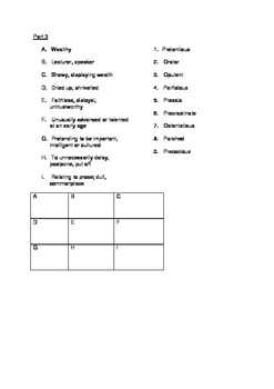 SAT Vocabulary Practice 4