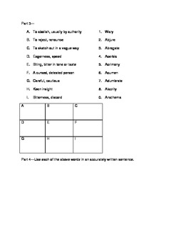 SAT Vocabulary Practice 6