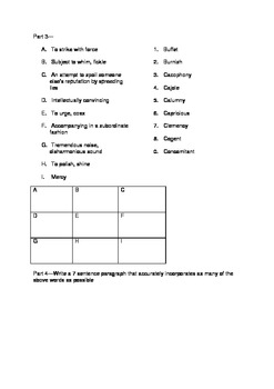 SAT Vocabulary Practice 7