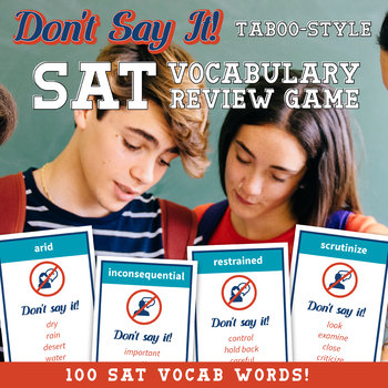 SAT Vocabulary Review Game: Taboo Style