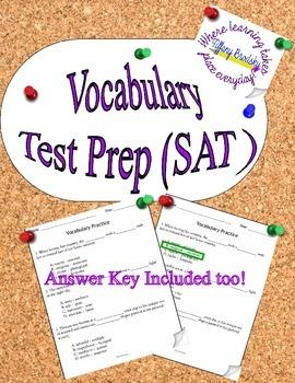 SAT Vocabulary Test Prep