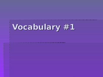 SAT Vocabulary Unit #1 (10 words)