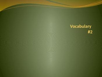 SAT Vocabulary Unit #2 (10 words)