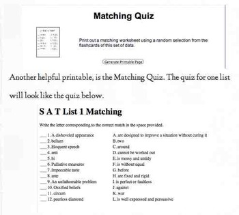 Access My Personal Comprehensive SAT Vocab. Website: Vocab for the Entire Year