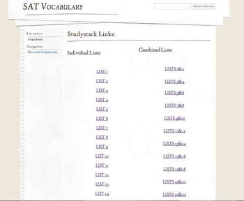 Access My Personal Comprehensive SAT Vocab. Website: Vocab