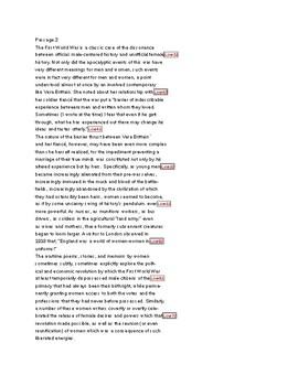 SAT WWI Reading Passages