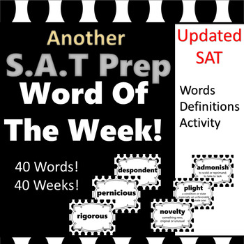 SAT Vocabulary Word of the Week Poster Set 2