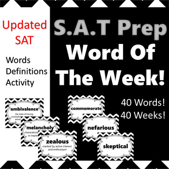 SAT Vocabulary Word of the Week Poster Set 1