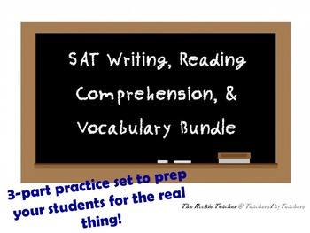 SAT Writing, Reading Comprehension, & Vocabulary Bundle