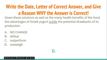 SAT Writing and Language Test Questions - Over 110 Prompts with Explanations!
