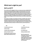 SAT and ACT test side-by-side comparison