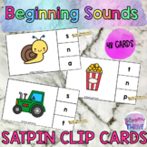 SATPIN Literacy Rotations Beginning Sound Clip Cards