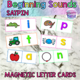 SATPIN Literacy Rotations Beginning Sounds Magnetic Letter Cards