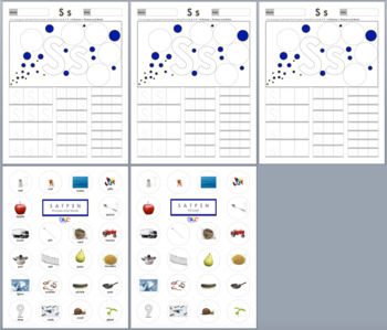 Letters Ss Aa Tt Pp Ii Nn Printing and Picture Find Worksheets
