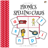 SATPIN spelling cards with tiles