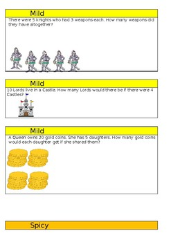 SATs Style Differentiated Multiplication and Division Questions