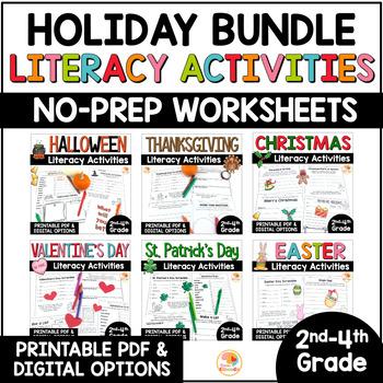 Holiday Literacy Activities BUNDLE