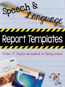 {SAVE 50%} Speech-Language Evaluation  Report Template MEGA PACK