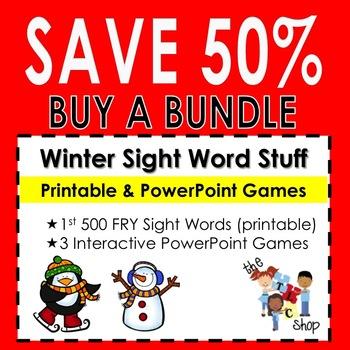 {SAVE 50%} WINTER SIGHT WORD BUNDLE