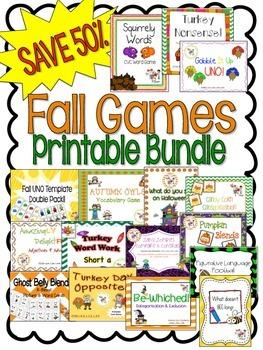 {SAVE 53%} FALL ACTIVITIES: Printable Bundle