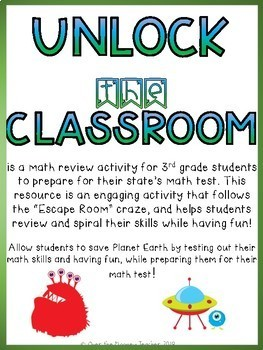 SAVE PLANET EARTH: Third Grade Math Place Value Escape Room