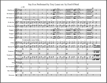SAY IT by TORY LANEZ Marching Band Arrangement