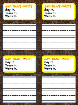 Flashcard Template:  SAY-TRACE-WRITE