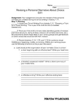 SpringBoard Level 2/Grade 7 Unit 1 Embedded Assessment 1