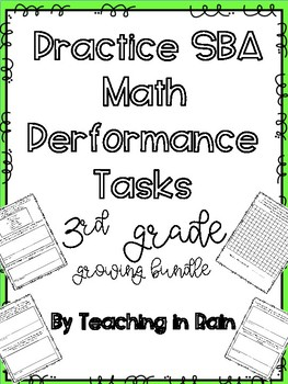 SBA Math Performance Task Third Grade