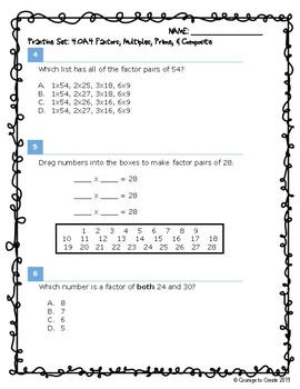 SBA Math Test Prep 4.OA.4
