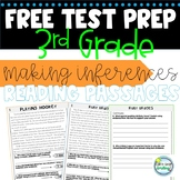 SBAC 3rd Grade Test Prep Making Inferences Reading Passage