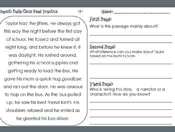 SBAC: 3rd grade non fiction text: Coral Reefs