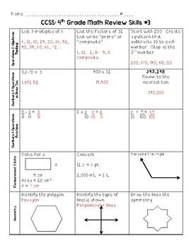 SBAC 4th Grade Common Core Math Review
