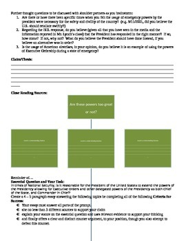 SBAC Aligned General Government Performance Task Brainstorm