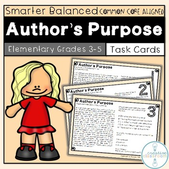 SBAC Author's Purpose Task Cards Grades 3-5